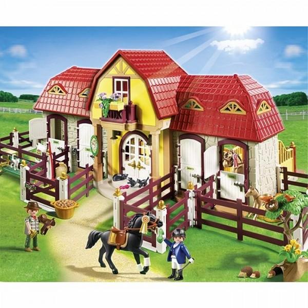 Playmobil 5221 haras avec chevaux et enclos avenue des jeux - Playmobil haras ...