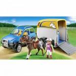Playmobil 5223 : Voiture avec remorque et cheval
