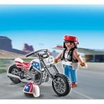 Playmobil 5280 : Oeuf : Pilote avec moto
