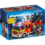 Playmobil 5363 : Fourgon de pompier avec sirène et gyrophare