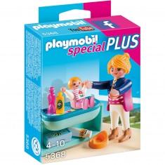Playmobil 5368 : Spécial Plus : Maman avec bébé et table à langer