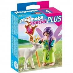 Playmobil 5370 : Spécial Plus : Fée avec chevreuil enchanté