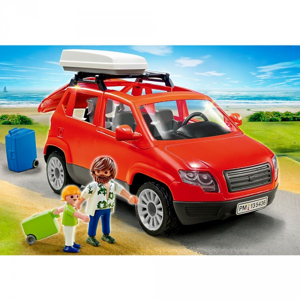 playmobil 5436 voiture avec coffre de toit avenue des jeux. Black Bedroom Furniture Sets. Home Design Ideas