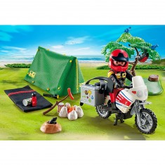 Playmobil 5438 : Motard et tente de camping