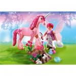 Playmobil 5443 : Fée coquette avec licorne Rose