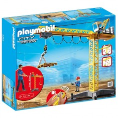 Playmobil 5466 : Grande grue de chantier commandée par infrarouge