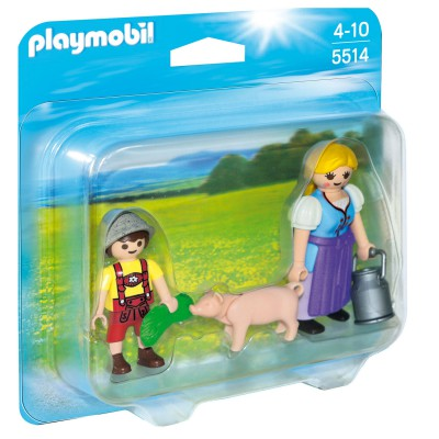 Playmobil 5514 : Duo Paysanne et enfant - Playmobil-5514