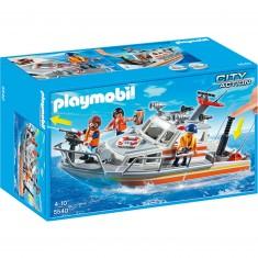 Playmobil 5540 : Bateau de sauvetage avec pompe à incendie