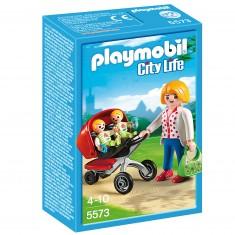 Playmobil 5573 : Maman avec jumeaux et landaus