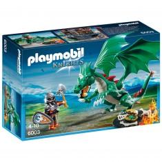 Playmobil 6003 : Chevalier avec grand dragon vert