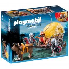 Playmobil 6005 : Chevaliers de l'Aigle avec charrette pié