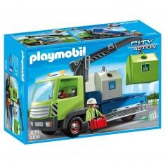 Playmobil 6109 : City Action : Camion avec grue et conteneurs à verre