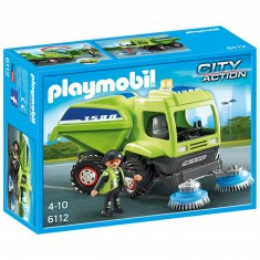 Playmobil 6112 : City Action : Agent avec balayeuse de voirie