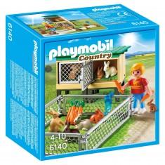 Playmobil 6140 : Country : Enfant avec enclos à lapins et clapier