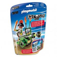 Playmobil 6162 : Pirates : Capitaine pirate avec canon vert