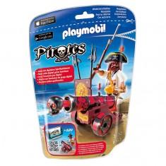 Playmobil 6163 : Pirates : Pirate avec canon rouge