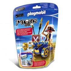 Playmobil 6164 : Pirates : Flibustier avec canon noir