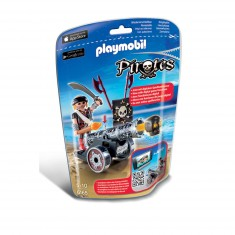 Playmobil 6165 : Pirates : Flibustier avec canon noir
