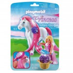 Playmobil 6166 : Princess : Princesse Rose avec cheval à coiffer