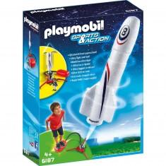 Playmobil 6187 : Sports & Action : Fusée avec plateforme de lancement