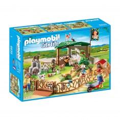Playmobil 6635 - City Life : Parc animalier avec visiteurs
