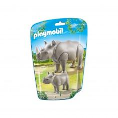 Playmobil 6638- City Life : Le rhinocéros et son petit