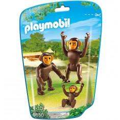Playmobil 6650 - City Life : Couple de chimpanzés avec bébé