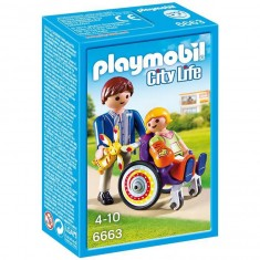 Playmobil 6663 - City Life : Enfant avec fauteuil roulant et papa