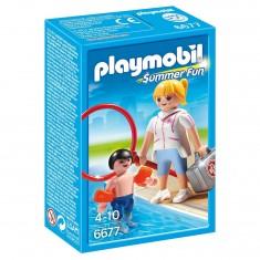 Playmobil 667 : Summer Fun : Maitre nageur avec enfant