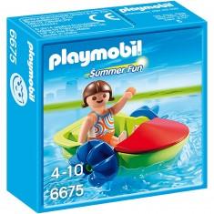 Playmobil 6675 - Summer Fun : Enfant avec bateau à pédales