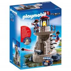 Playmobil 6680 : Pirates : Phare lumineux avec soldats
