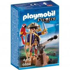 Playmobil 6684 : Pirates : Capitaine pirate avec canon