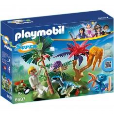 Playmobil 6687:  Super 4 : Ile perdue avec Alien et vélociraptor