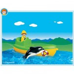 Playmobil 6739 : Pêcheur / bateau / orque épaulard