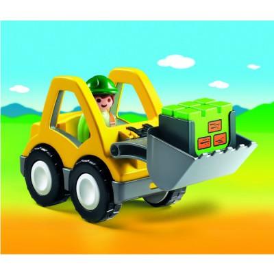 Playmobil 6775 : Chargeur et ouvrier 1.2.3 - Playmobil-6775