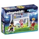 Playmobil 6858 : Sports & Action : Cage de tir au but avec footballeurs