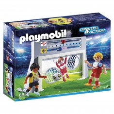 Playmobil 6858 : Sports & Action : Cage de tir au but avec footballeurs