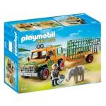 Playmobil 6937 : Wild Life : Véhicule avec éléphanteau et soigneurs
