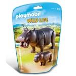 Playmobil 6945 : Wild Life : Hippopotame et son petit