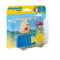 Playmobil 6961 : 1.2.3 : Ouvrier avec brouette