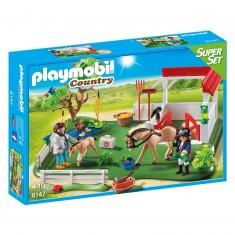 Playmobil 6147 : SuperSet : Paddock avec chevaux