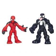 Figurines Spiderman : Marvel Super Hero Adventures : Scarlet Spider-Man et Venom