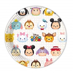 Assiettes Tsum-Tsum : Disney x8