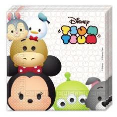 Serviettes Tsum-Tsum : Disney x20