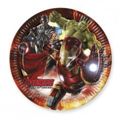 Assiettes en carton Avengers : 8 assiettes de fête