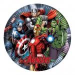 Assiettes en carton Avengers Power : 10 assiettes de fête