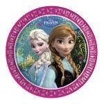 Assiettes en carton La Reine des Neiges (Frozen) : 8 assiettes de fête