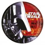 Assiettes en carton Star Wars : 8 assiettes de fête