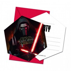 Cartes d'invitation Star Wars x 6