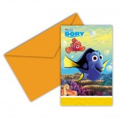 Cartons d'invitation Le Monde de Dory x 6